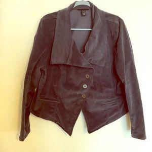 Grey steampunk-ish jacket. Lane Bryant Size 20